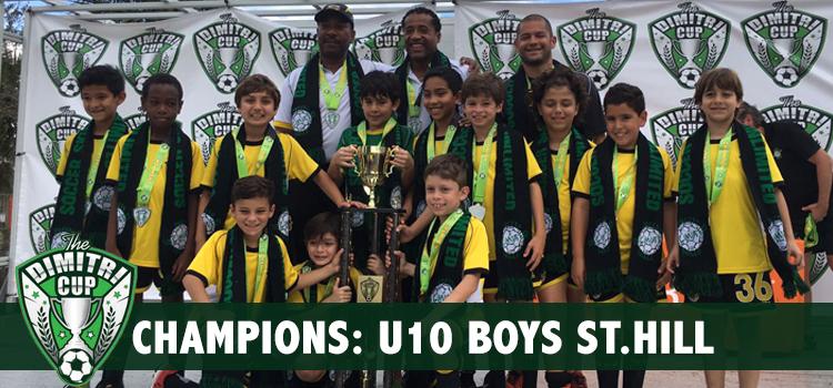 U10 Boys St.Hill Dimitri Cup Champions