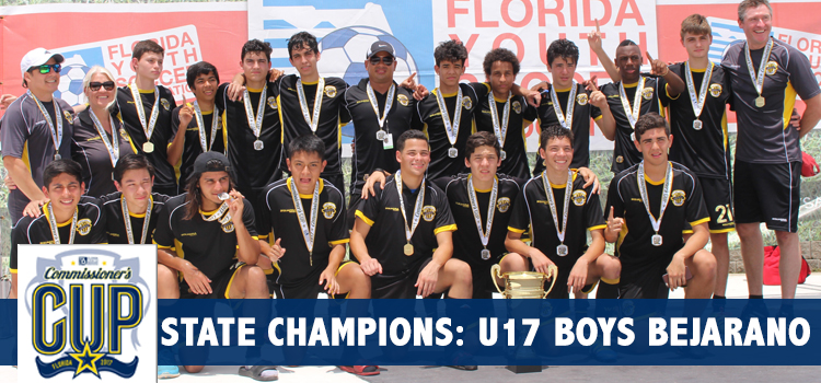 U17 Boys Bejarano State Champions of the Commissioner's Cup!