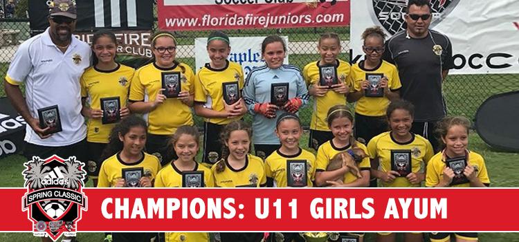 U11 Girls AYUM CHAMPIONS AGAIN – Florida Ranked #1!!