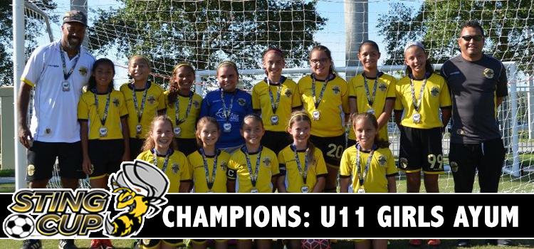 WPU U11 Girls Ayum Thumps Sunrise Sting to Win Sting Cup!