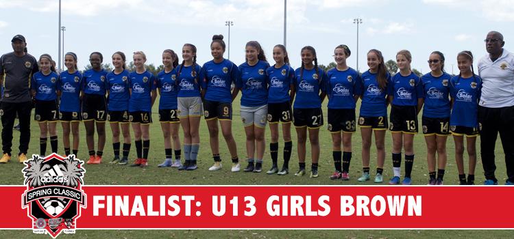 U13 Girls C. Brown Finalists at Adidas Cup 2017