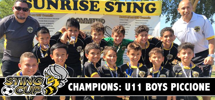 WPU U11 Boys Piccione – Undefeated CHAMPIONS of the Sunrise Sting Cup!