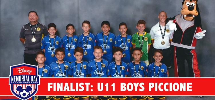 U11 Piccione – Semi-Finalists at the Disney Memorial Day Shootout