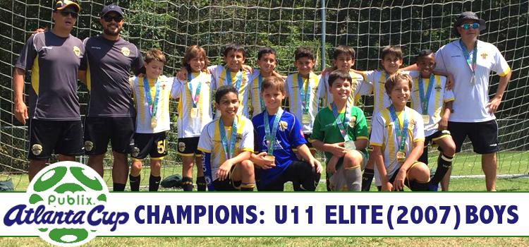 U11 Boys Elite Champions Publix Atlanta Cup 2017