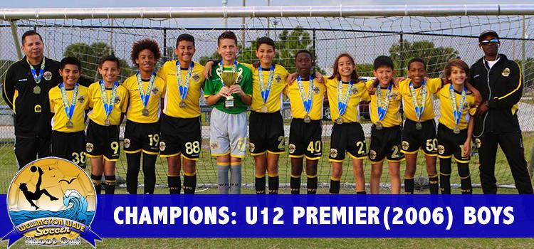Boys U12 Premier Champions in Wellington Shootout