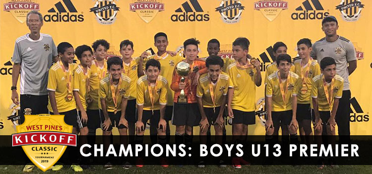 West Pines United F.C. Boys U13 Premier are Champions