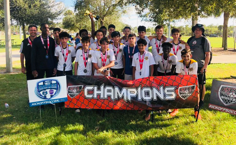 U15 Pedraza team are undefeated Champions in the Naples Kickoff Tournament 2020