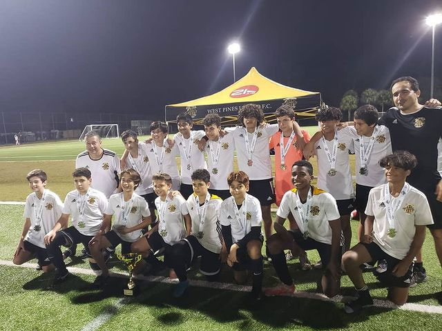 WPU U14 Elite Rico finish the Soccer Skills Showcase and Junior Cup as CHAMPIONS!