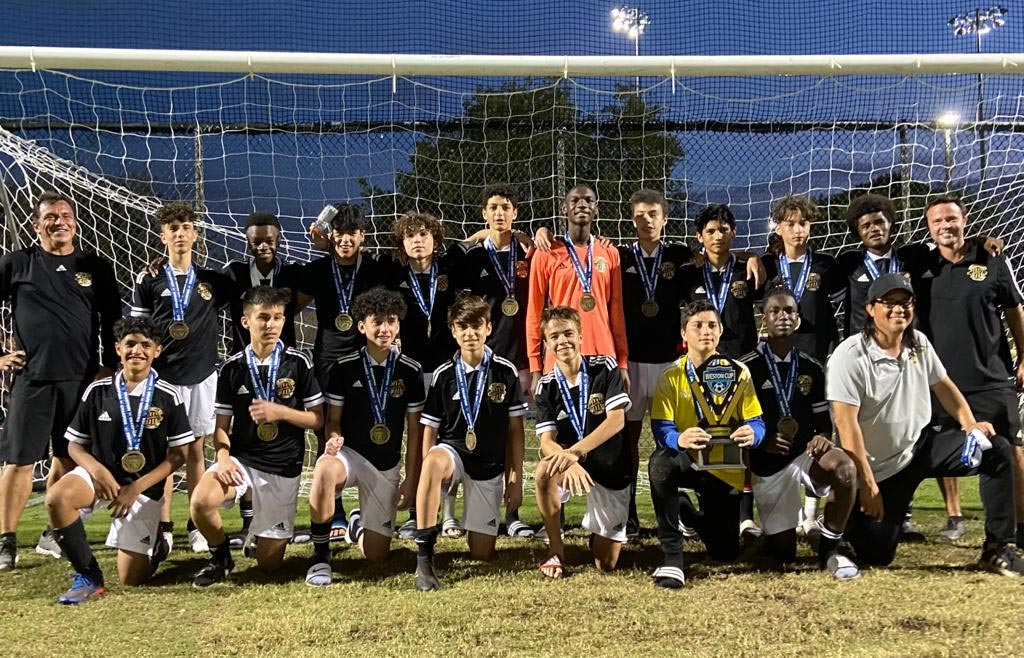 WPU BOYS U15 Premier Pedraza who placed as CHAMPIONS in the 2021 Weston Cup Tournament!