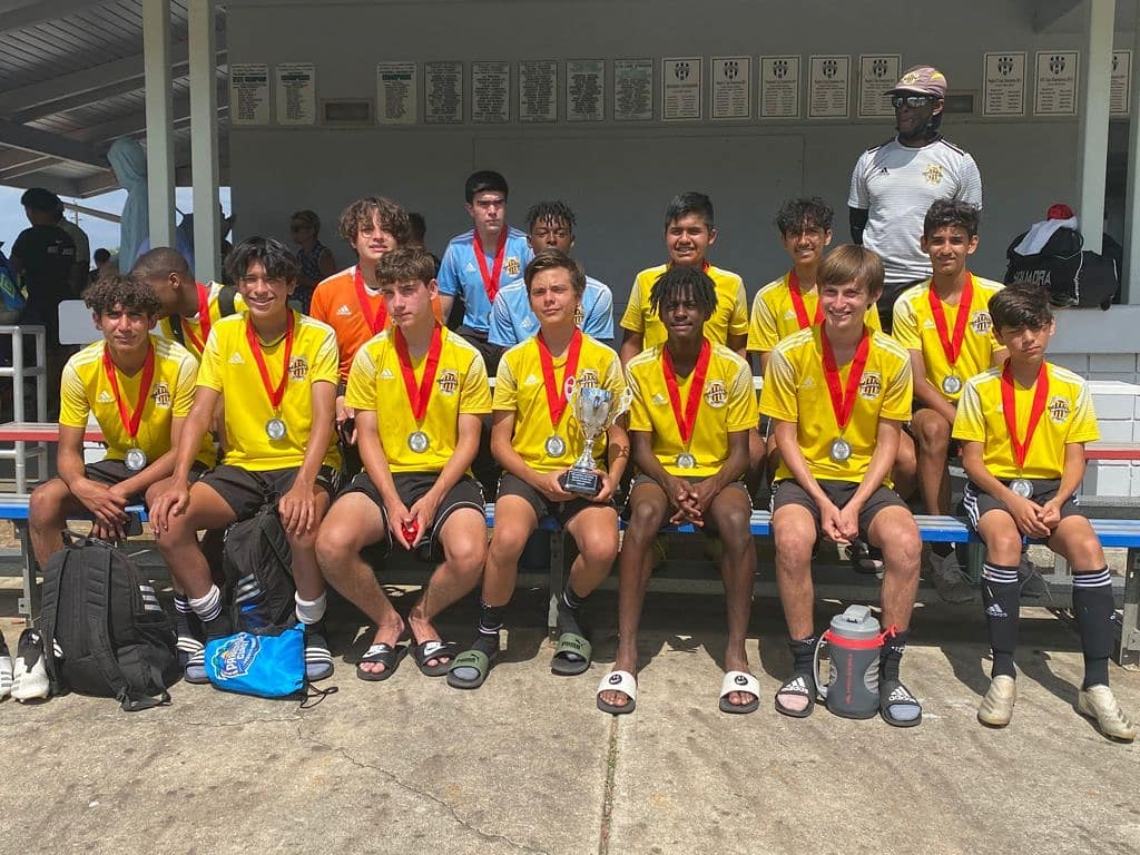 WPU U14 Elite Chang for finishing as CHAMPIONS of the Bazooka Spring Cup.