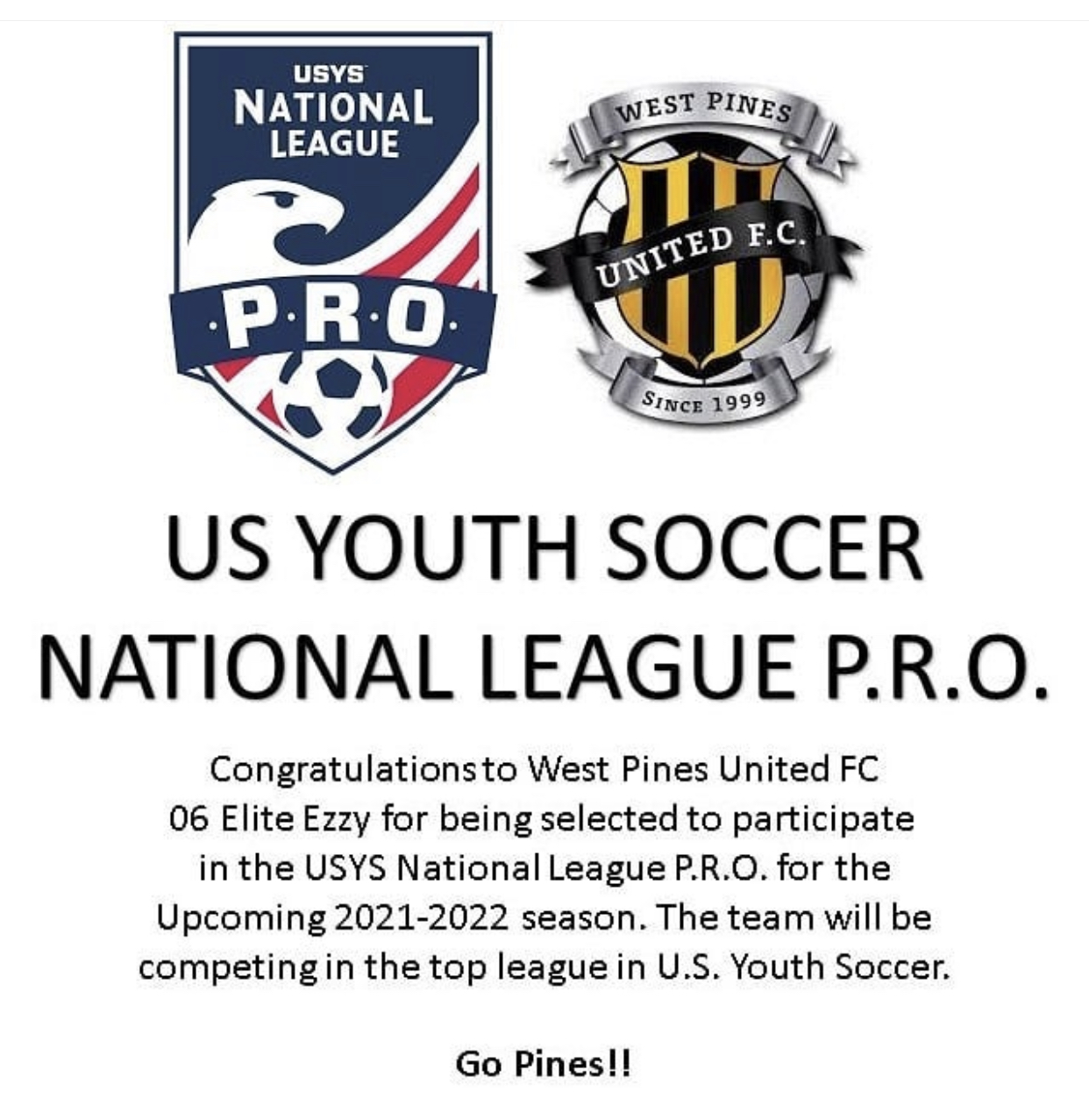 US Youth Soccer National League P.R.O.
